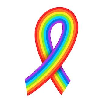 Regenboog bewustzijn linten lgbtq symbool pride maand diversiteit tolerantie concept