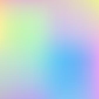 Regenboog eenhoorn holografische achtergrond vector