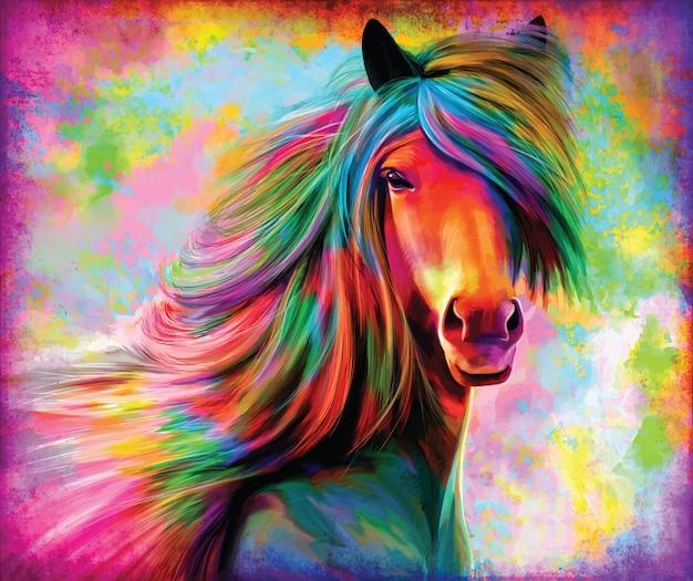 Regenboog paard