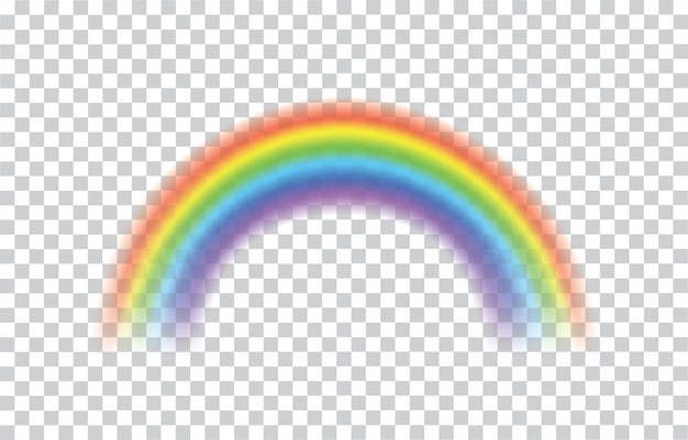 Regenboog pictogram realistisch. perfect pictogram geïsoleerd op transparant
