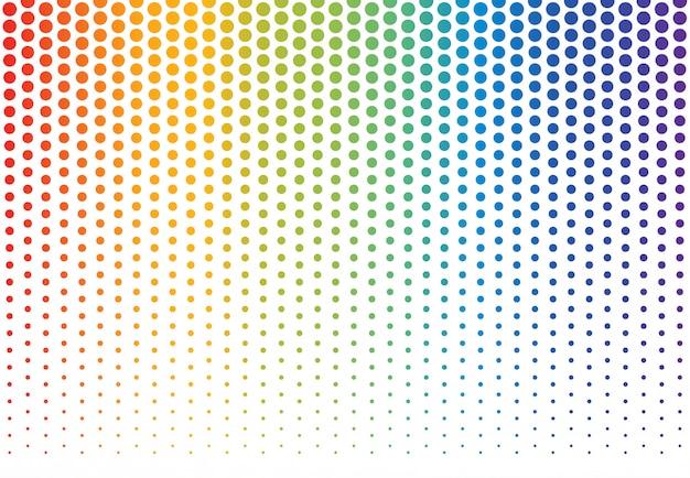 Regenboog polka dots achtergrond