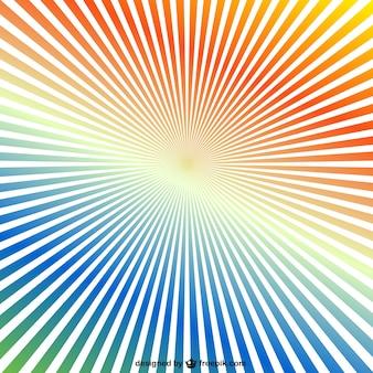 Regenboog sunburst achtergrond