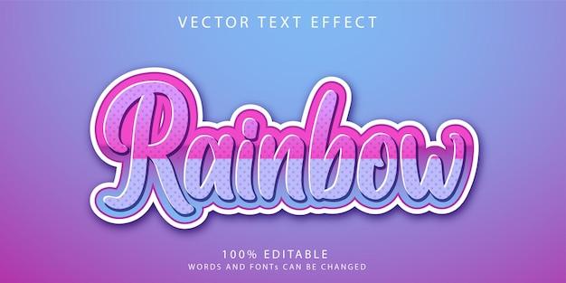 Regenboog teksteffecten stijlsjabloon