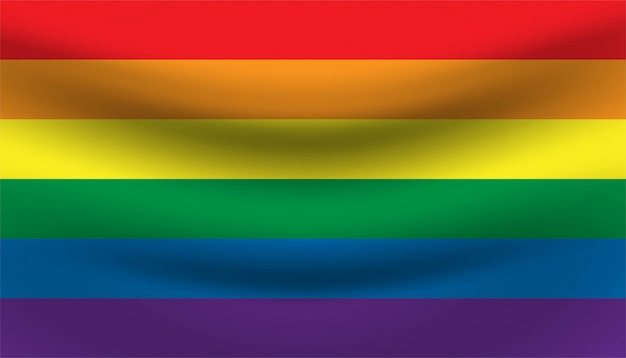 Regenboog trots vlag achtergrond sjabloon.