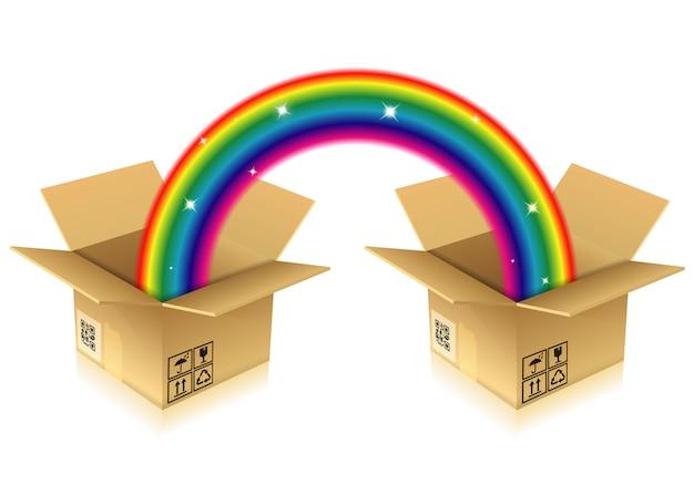 Regenboog uit doos