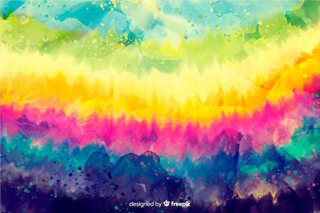 Regenboogachtergrond in tie-dye stijl