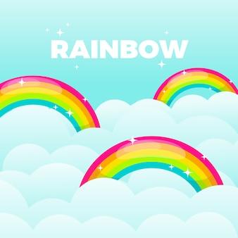 Regenboogconcept in vlak ontwerp