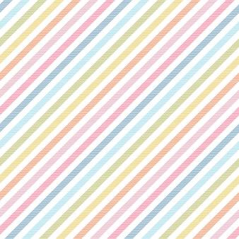 Regenboogstrepen naadloze patroon diagonale textuur