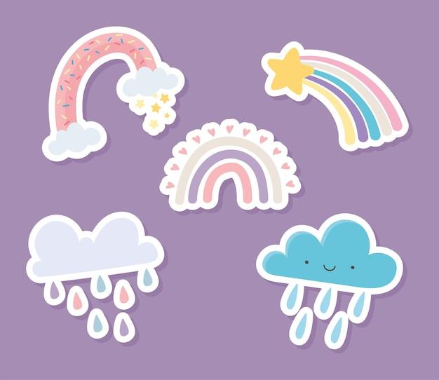 Regenboogwolken regen