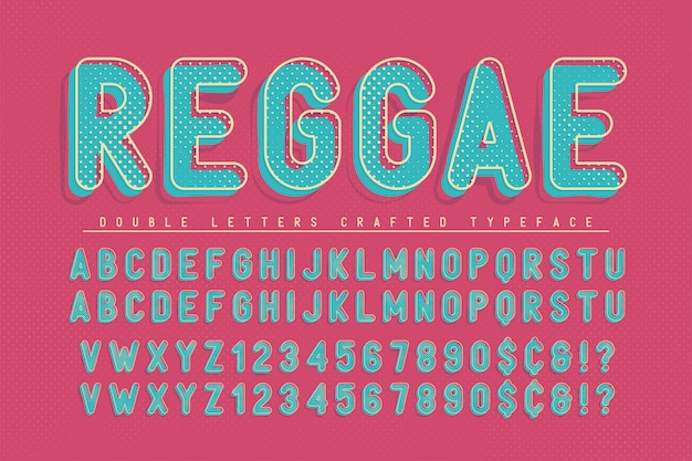 Reggae gecondenseerd popart-ontwerp van het displaylettertype