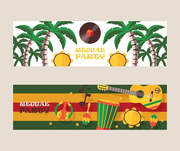 Reggae partij uitnodiging jamaicaanse stijl muziek festival aankondiging