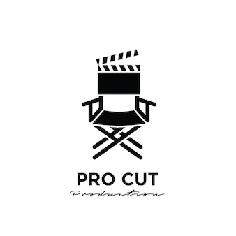 Regisseur maakte achter de schermen het bewerken van studio movie film production logo-ontwerp