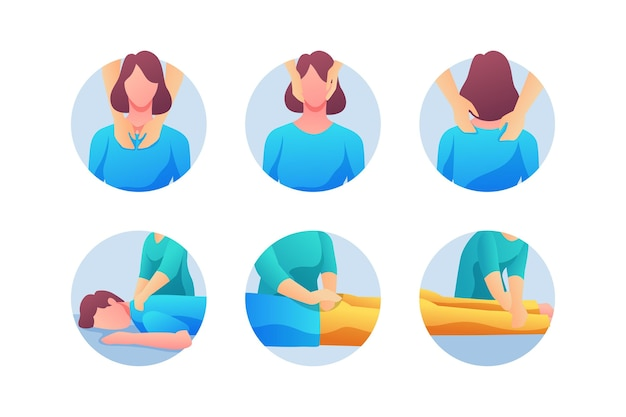 Reiki therapie illustratie