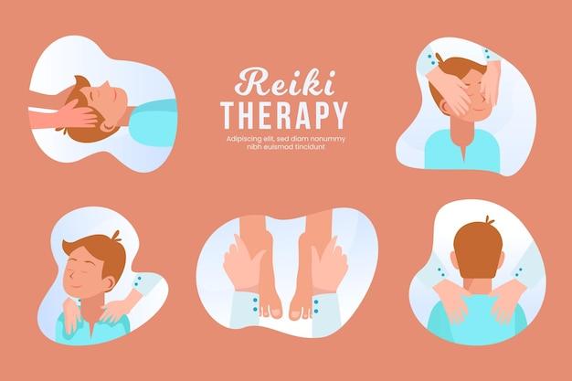 Reiki therapie sjabloonontwerp