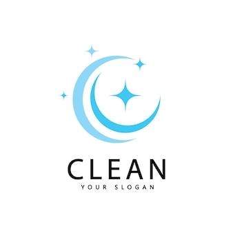 Reinig en was creatieve symbolen, grafisch ontwerp van bedrijfsschoonmaakdiensten