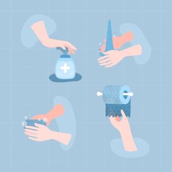 Reinig je handen om de verspreiding van het coronavirus te voorkomen