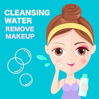 Reinigende cosmetica op het gezicht