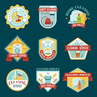 Reiniging emblemen set