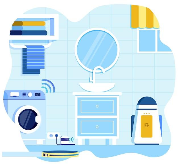 Reiniging van robotachtige geautomatiseerde apparatuur voor badkamer