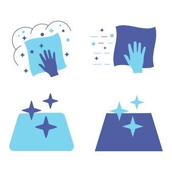 Reinigingsoppervlakken reinigingsdoekje reinigingsoppervlak of desinfectieoppervlak eenvoudige desinfectie