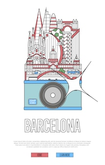 Reis barcelona-webpagina met camera