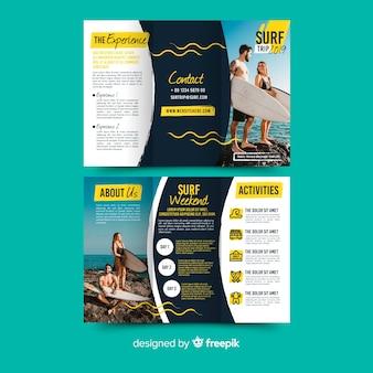 Reis driebladige brochure