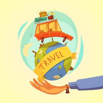 Reis- en toerisme-concept