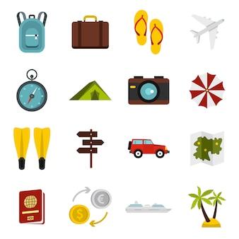 Reis geplaatste pictogrammen