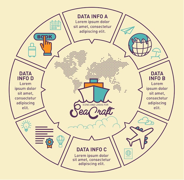 Reis infographic vectorontwerp