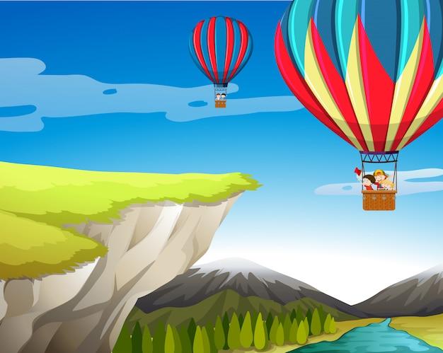 Reis met een heteluchtballon
