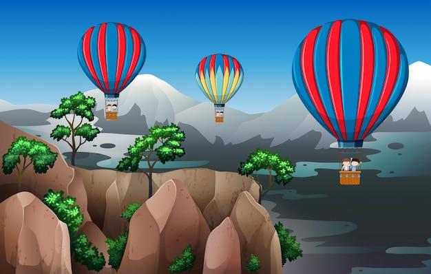 Reis met heteluchtballon