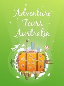 Reis naar australië.