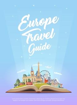 Reis naar europa. rondrit.