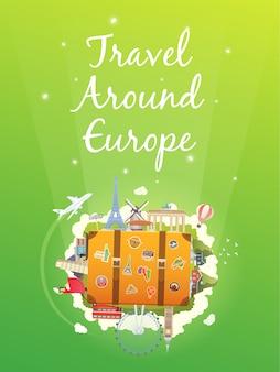 Reis naar europa.