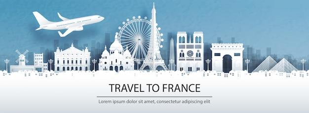 Reis naar frankrijk met beroemd oriëntatiepunt.