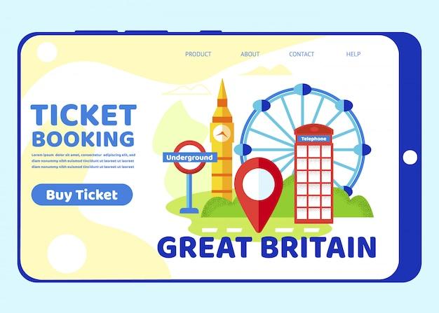 Reis naar groot-brittannië. beroemde bezienswaardigheden van londen
