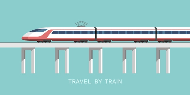 Reis per trein illustratie