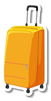 Reis plastic koffer met wiel cartoon sticker