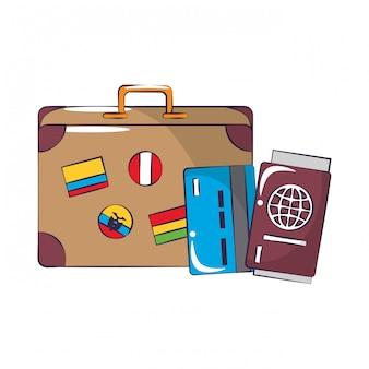 Reis rond de wereld symbolen