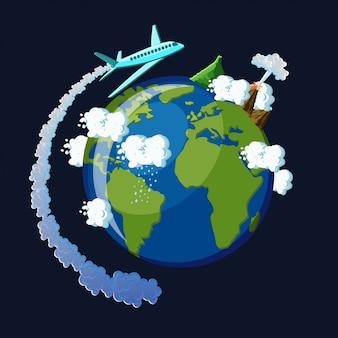 Reis rond het wereldconcept