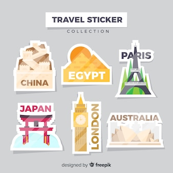 Reis sticker collectie
