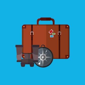 Reis vakantie of vakantie gerelateerde pictogrammen afbeelding