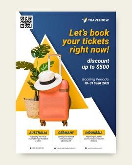 Reis verkoop flyer illustratie