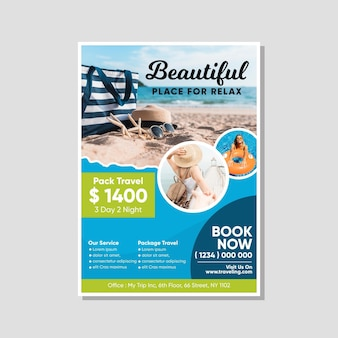 Reis verkoop flyer met foto