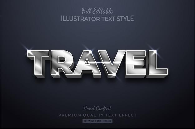 Reis zilver bewerkbare tekststijl effect premium