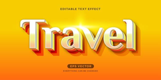 Reis zomer bewerkbaar teksteffect Premium Vector