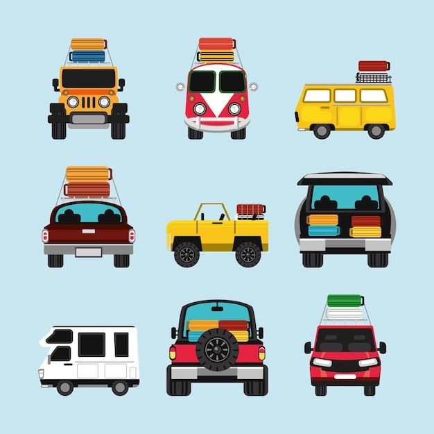 Reisauto's met kofferset