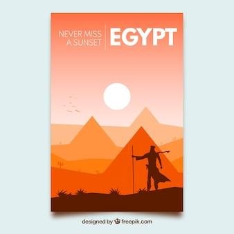 Reisbrochures met silhouetten