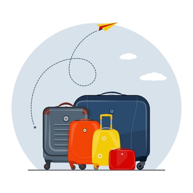 Reisconcept met vliegtuigroute