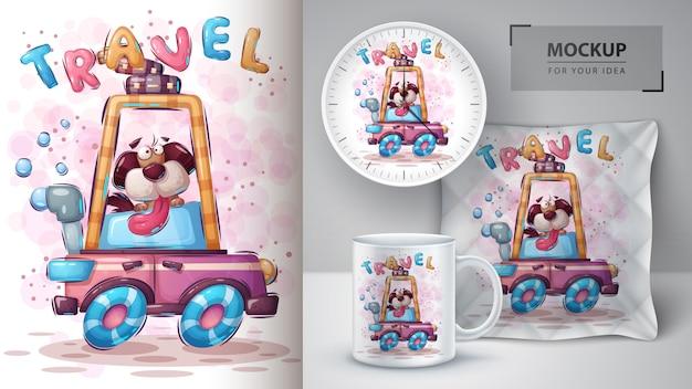 Reishond poster en merchandising